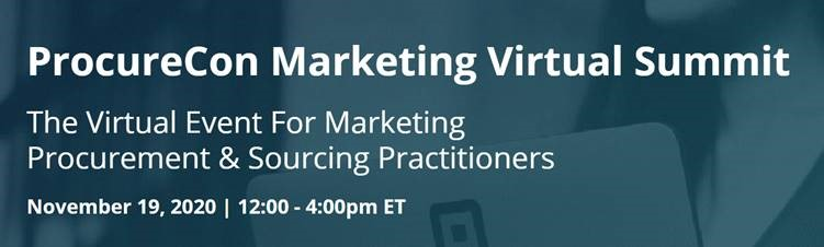 ProcureCon Marketing Virtual Summit, 19 Nov 2020
